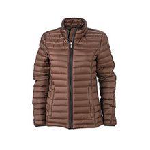 James & Nicholson Damen Jacke Jacke Ladies Quilted Jacket braun (Coffee/Black) Large