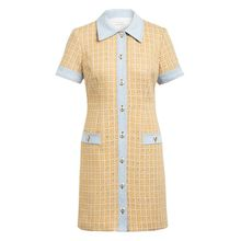 sandro Kleid im Materialmix