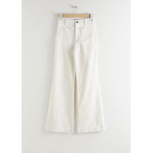 Flared High Rise Jeans - White