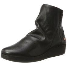 Softinos Damen AYO411SOF Smooth Stiefel, Schwarz (Black), 36 EU