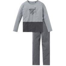 SCHIESSER Schlafanzug rauchblau / basaltgrau
