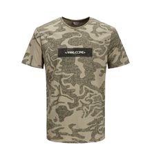 JACK & JONES Camo T-shirt Herren Grau
