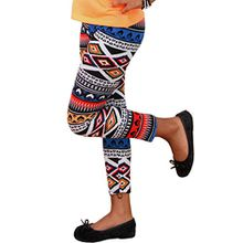 Kinder THERMO LEGGINS Winter Hose Norweger Aztec Leggings Neu (116/128, 22 Rot Blau)