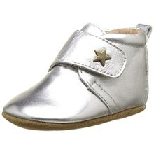 Bisgaard Unisex Baby Velcro Star Pantoffeln, Silber (01 Silver), 21 EU