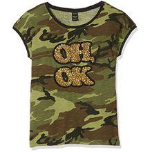 Replay Mädchen T-Shirt SG7435.052.20404KE, Grün (Mimetic 010), 152 (Herstellergröße: 12A)