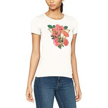 Guess Damen Pullunder SS RN Diamond Rose Tee, Weiß (True White), Small