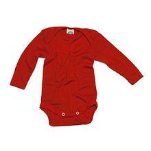 Cosilana Baby Body Wollbody®, Größe 98/104, Farbe Rot - Wollbody®GmbH