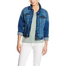 s.Oliver Damen Jeansjacke Jacke tailliert, Gr. 36, Blau (blue denim 55Z4)