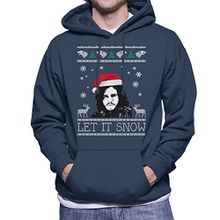 Let It Snow Jon Snow Christmas Game Of Thrones Men's Hooded Sweatshirt