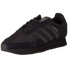 adidas Unisex-Erwachsene Haven Sneakers, Schwarz (Core Black/Core Black/Core Black), 37 1/3 EU