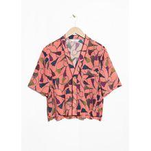 Cropped Lounge Shirt - Orange