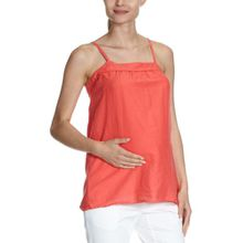 MAMALICIOUS Damen Umstandsmode Shirt/ Top, 20000038 Simone Strap Top, Gr. 38 (M), Rot (CAYENNE RED)
