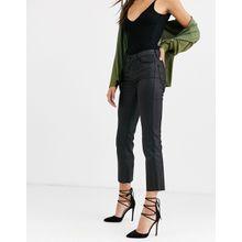 Vero Moda - Beschichtete Schlag-Jeans - Schwarz
