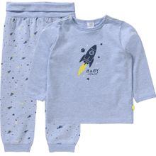 SANETTA Schlafanzug rauchblau / dunkelblau / gelb / weiß