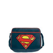 LOGOSHIRT Tasche 'Superman Logo' enzian / gelb / rot