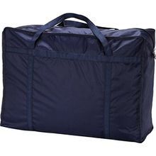 1 großer Wäschesack/Aufbewahrungsbeutel mit Reißverschluss für Kleidung, Bettdecke und Bettwäsche, zum Verstauen von Spielzeug, von Ease Home dunkelblau