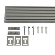 Vorhangschiene 5-läufig für Vorhänge, Schiebevorhang aluminium L 270 cm