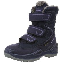 Lowa Unisex-Kinder Milo GTX Trekking-& Wanderstiefel, Blau (Navy/Lila), 27 EU