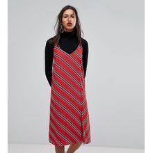 Mango - Gestreiftes Camisole-Kleid - Rot