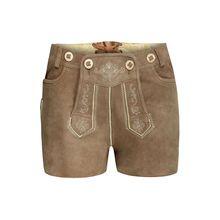 Almsach kurze Lederhose Shorts hellbraun Damen