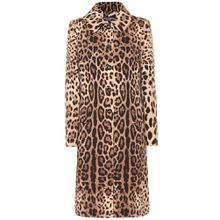 Bedruckter Mantel aus Wolle