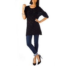Bestyledberlin Damen Pullover, Strick Kleider t121p schwarz