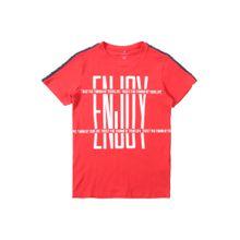 NAME IT Shirt 'NKMKIDDIE' rot / schwarz / weiß