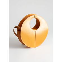 Structured Circle Crossbody Bag - Yellow