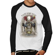 We All Float Down Here It Pennywise Men's Baseball Long Sleeved T-Shirt