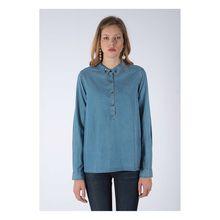 Kaporal Freizeitbluse im Casual-Look Langarmblusen blau Damen