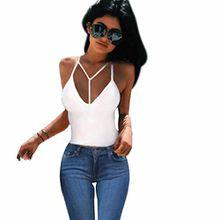 FEITONG Sexy Damen Bra Crop Bustier Bralette Korsett Tank Tops Bluse Shirt (S, Weiß)