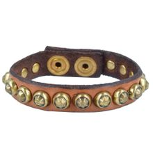 Campomaggi Armband braun / gold
