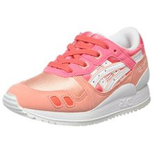 Asics Unisex-Kinder Gel-Lyte Iii PS Sneakers,Rosa (Pink), 33 EU