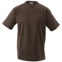 Kinder T-Shirt | James & Nicholson | JN 019 M / 122/128,Braun (Brown)