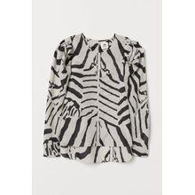 H & M - Bluse mit Puffärmeln - Beige - Damen