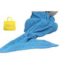Mermaid Tail Deckenhaken Yier® Erwachsene Teens Jugendliche Wohnzimmer Sofa Super Soft Decken Schlafsäcke-blauer See