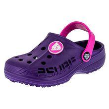 2 Surf Kinder Clogs Badeschuhe Sandalen für Jungen und Mädchen in Vielen Farben M211lipi Lila Pink 25