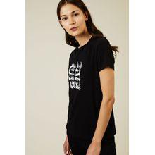 Givenchy T-Shirt mit frontalem Logo-Druck Schwarz - 100% Baumwolle