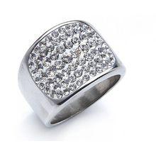Ring Swarovski Elements aus Edelstahl