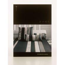 Joop Bettwäsche Ornament Stripe schwarz 4022-09 Kissenbezug einzeln 40x80 cm