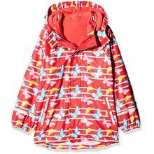 Sterntaler Kinder Mädchen gefütterte Regenjacke, 3in1 Multifunktionsjacke, Alter: 4-6 Jahre, Größe: 116, Rot