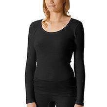 Mey Basics Softwool Base Damen Shirts 1/1 Arm Schwarz 40