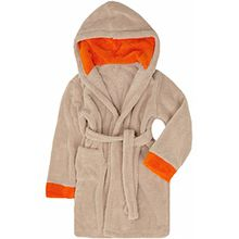 Timone Kinder Bademantel Kids (Beige/Orange (716/678), 134-140)