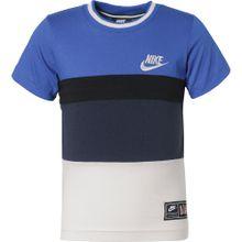 Nike Sportswear T-Shirt 'Air' blau / hellgrau / schwarz