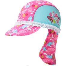 PLAYSHOES Mütze 'Flamingo' türkis / gelb / pink / weiß