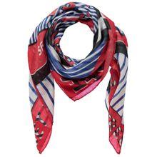 TAIFUN Tuch blau / rot / schwarz / weiß