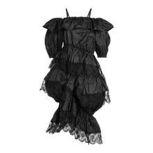 Simone Rocha Seidenkleid mit Spitze und Volants
