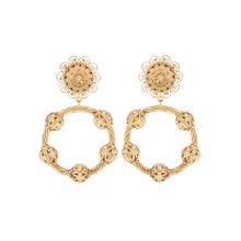 Clip-Ohrringe aus Messing