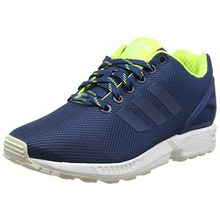 adidas Unisex-Erwachsene ZX Flux Low-Top - Blau (Shadow Blue/Solar Yellow/Halo), 36 2/3 EU
