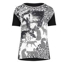 Betty Barclay Halbarm-Shirt mit Leoprint schwarz/weiß Damen